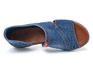 29ec012253a6 Rifľové džínsové jeansové dámske topánky - mustang shoes